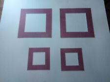 4 passes partouts à motifs couleur framboise ext  : 30x30 cm et 18x18 cm