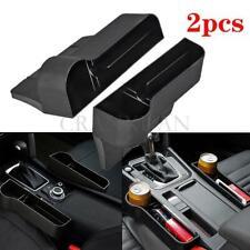 LH+RH Car Seat Storage Box Cup Drink Holder Auto Organizer Gap Pocket Leather