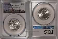 2018 D Pictured Rocks NP Quarter 25c PCGS MS66 USA Flag