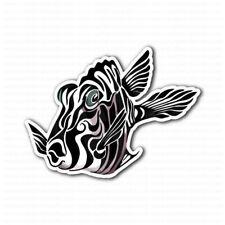 Zebra Fish Tribal Art Bumper Laptop Truck Car Sticker