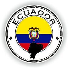 Sello Pegatina de Ecuador Parachoques Disco Portátil Coche Camión Libro Nevera