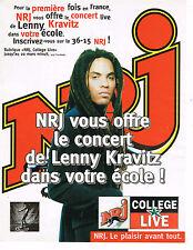 PUBLICITE ADVERTISING 124  1996   NRJ  radio  LENNY KRAVITZ   COLLEGE LIVE