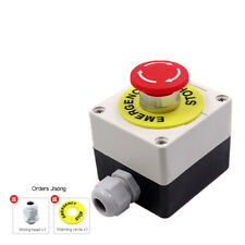 22mm 10a 220w Mushroom Self Locking Emergency Stop Button Switch Power Supply