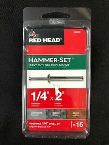 35205 Red Head 15-Pack 2-in x 1/4-in Nail-Drive Anchors