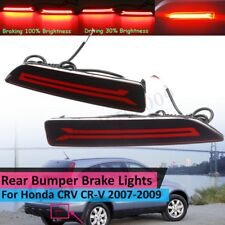 2x LED Rear Bumper Lamp Reflector Stop Brake Light For 2007-2009 Honda CRV CR-V