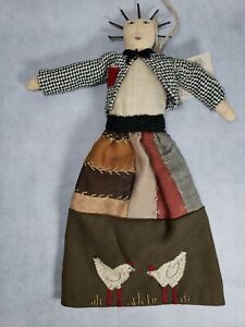 Marcie LaJoie Primitive Folk Art Rag Doll The Shack In The Back Signed Dated 97