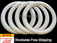 "ATLAS R12"" White Wall Portawall Tire insert trim set of 4 Fiat 500"