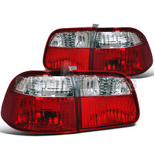 For 1999-2000 Honda Civic 4dr Sedan Tail Lights Depo Red/Clear