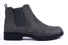 New Womens Ladies Chelsea Ankle Boots Low Block Heel Slip On Grip Sole Shoe Size