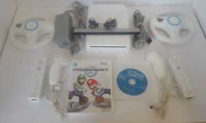 Nintendo Wii Mario Kart Console with Sports, 2 controllers and wheels
