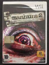 Nintendo Wii Manhunt 2 Man Hunt NUOVO FACTORY SEALED >ITA< (RockStar)