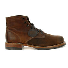 Wolverine Men's Evans 1000 Mile Boots Two Tone Brown Leather/Suede W40556 NEW!