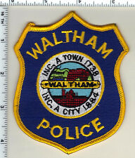 Waltham Police (Massachusetts) Shoulder Patch  new from 1992
