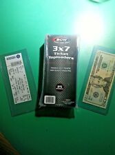 """Clear Plastic Top Load Rigid Tickets Holders, Pack of 25.  3""""x7"""", Ships Free"""