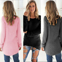 Womens Blouse Warm Long Sleeve Sweater Ladies Sweatshirt Jumper Pullover Tops