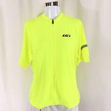 Louis Garneau Womens Ride Cycling Jersey Full Zip Short Sleeve Yellow Size XL