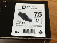 FootJoy FJ Golf Casual Spikeless Black Golf Shoes # 54515 - 7.5 Medium - New