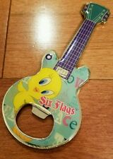#D6 Six Flags Tweety Bird Guitar Magnet & Bottle Opener Euc