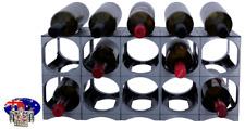 CellarStak Silver Plastic Wine Rack - 12/15 Bottles
