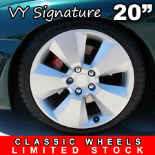 4x SIGNATURE 20inch Silver Alloy Wheel HOLDEN COMMODORE VL VK VT VY VZ VE VF SS