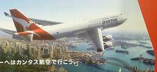 Original airline poster QANTAS B 747 - 400 large Sidney harbour Opera house ax