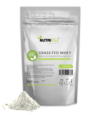 5lb 100% Pure Whey Protein Isolate 90% Grass Fed USDA Certified (Unflavored)