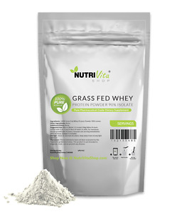 2lb 100% Pure Whey Protein Isolate 90% Grass Fed USDA Certified (Unflavored)