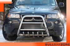 BMW X3 2003-2005 PARE-BUFFLE HAUT AVEC GRILLE DE PROTECTION CARTER EN INOX