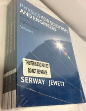Physics For Scientists And Engineers Serway Eighth Edition 4-Volume Set -   New