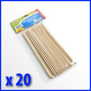 20 pce  20 cm x 2.5 cm Jumbo Paddle Pop Sticks, Natural  colour, Scrapbooking
