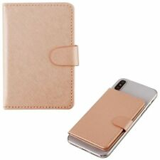 Rose Gold Adhesive Card Pouch (with Magnetic Snap)
