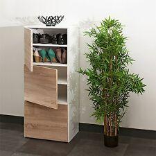 BNIB, La Redoute Reynal Shoe cabinet with 3 Doors 6 Shelves White & Oak RRP £159