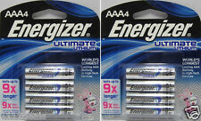 Energizer Ultimate Lithium L92BP AAA Batteries x 8