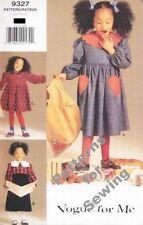 Pattern Vogue Sewing Girl Dress Winter Dress EASY sz 5-6x OOP