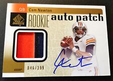 #46/299 Cam Newton 2011 SP Authentic Rookie Auto Patch RC #204