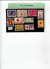 10PCS USED STAMPS RED CROSS INDONESIA/INDIA ETC # S135