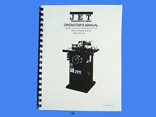 Jet   JWS-34XL Wood Shaper Operator  Maintenance & Parts  Manual *170