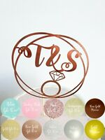 Personalised Engagement Cake Topper.  Custom Initials Topper Bridal Shower Party