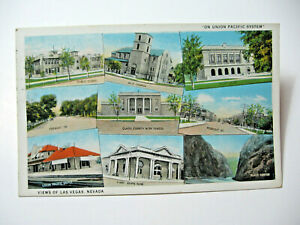 1931 Union Pacific Views of Las Vegas, Nevada Postcard