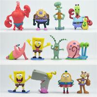 12pcs Set SpongeBob Squarepants Patrick Star Squidward Tentacles PVC Figure Toy