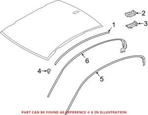 Genuine OEM Roof Drip Molding Seal for BMW 51767275303