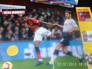 Manchester united v tottenham hotspur colour A3 picture + spurs
