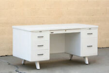 1960s McDowell Craig Tanker Desk, Refinished in Gloss White