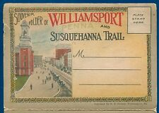 Williamsport Susquehanna Trail Pennsylvania pa postcard folder