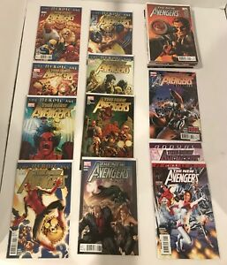 LOT OF 37 NEW AVENGERS (2010 HEROIC AGE) #1-34  COMPLETE SET + 1 SHOTS BENDIS