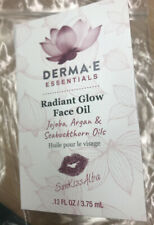 Derma - E Essentials Radiant Glow Face Oil Jojoba Argan Seabuckthorn Oils .13 oz