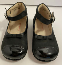 Starry Mini Girls Black Shoes Toddler Size EU 22 US 6 Vero Cuoio Made in Italy