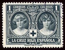 ESPAÑA 1926. Pro Cruz Roja Española. 1 céntimo negro. Usado. Edifil 325.