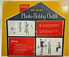 1955 Vintage Kodak Deluxe Photo-Hobby Outfit 615 Photograph Developer WORKS 8978
