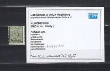 SBZ 5 Pfg. Ziffer 1945** Postmeistertrennung Michel 116 CY Befund (S11804)